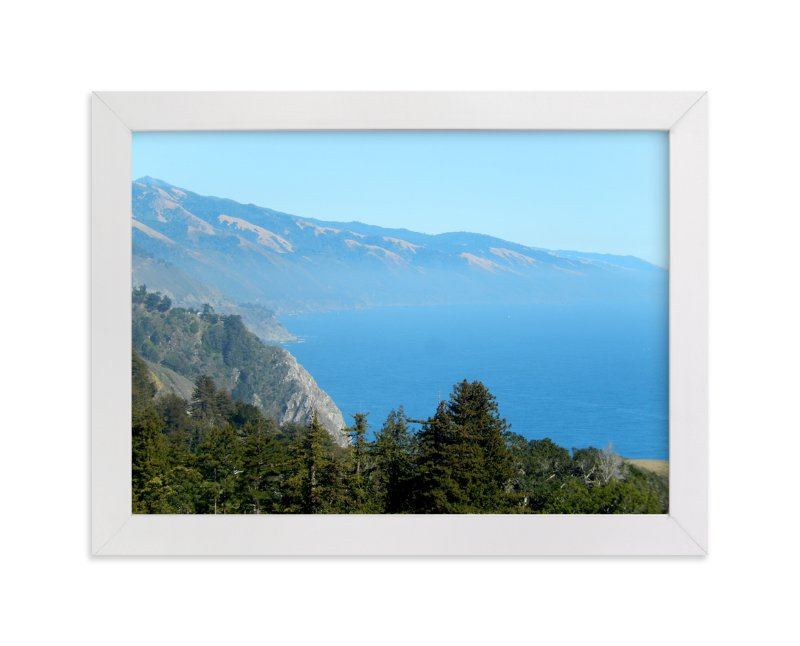 """""""Big Sur Nepenthe"""" - Art Print by Jan Kessel in beautiful frame options and a variety of sizes."""