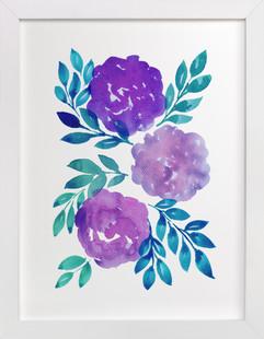 hand painted flowers_2I  Art Print