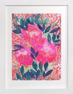 HAND PAINTED FLOWERS_4F  Art Print