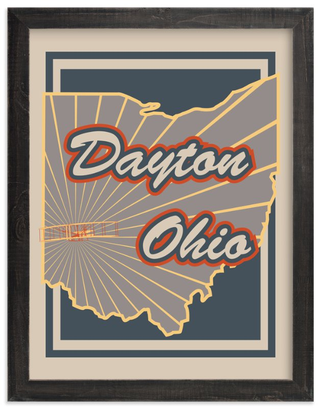 """Dayton Ohio"" - Art Print by Nathan Poland in beautiful frame options and a variety of sizes."