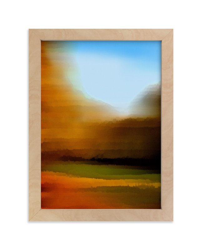 """""""Horizon Series Harvest"""" - Art Print by Jennifer Morehead in beautiful frame options and a variety of sizes."""