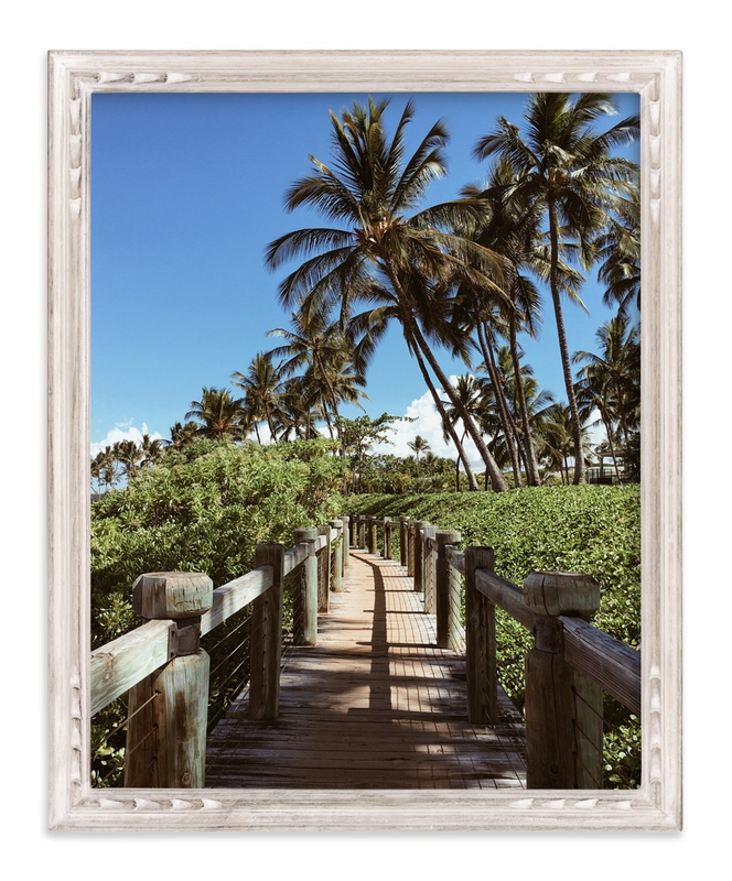 """""""Palm Tree Pathway"""" - Art Print by Christian Florin in beautiful frame options and a variety of sizes."""