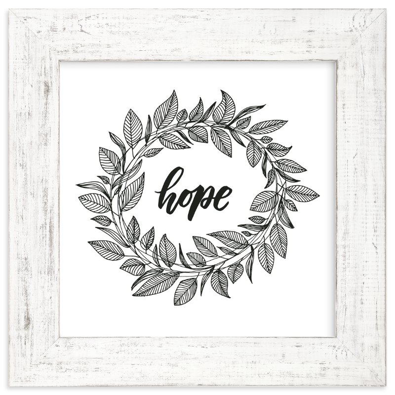 """""""Hope Wreath"""" - Art Print by Lyna Ti in beautiful frame options and a variety of sizes."""
