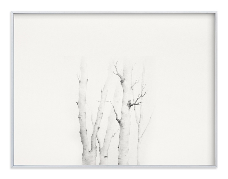 """Birch in Chappaquiddick"" - Art Print by jinseikou in beautiful frame options and a variety of sizes."