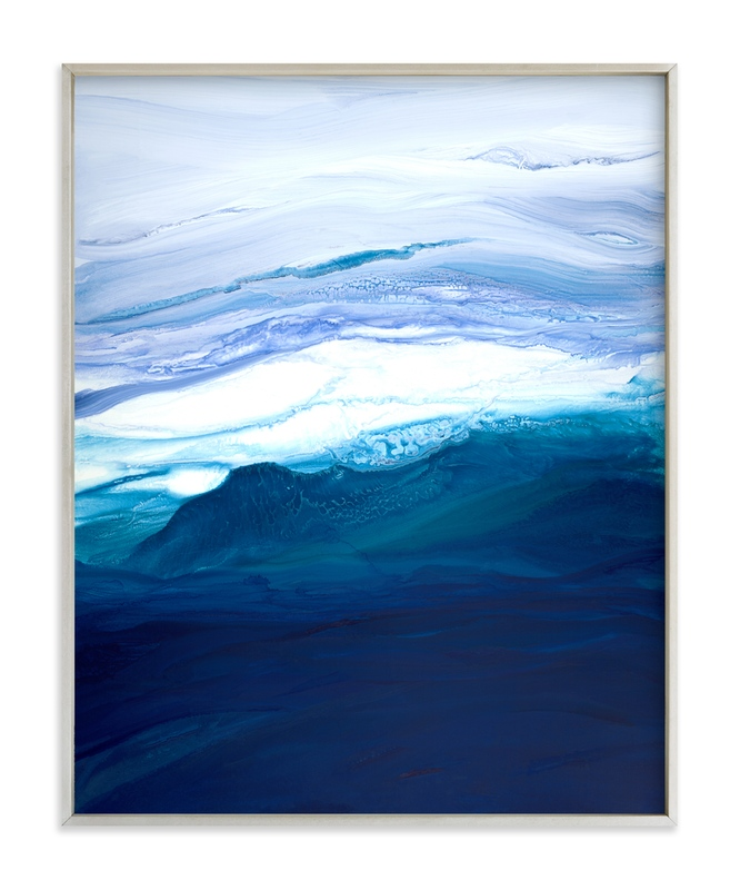 """""""saltwater current"""" - Art Print by Teodora Guererra in beautiful frame options and a variety of sizes."""