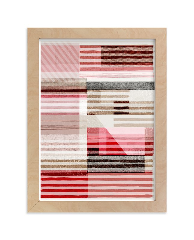 """Lined Abstract"" - Art Print by Francesca Iannaccone in beautiful frame options and a variety of sizes."