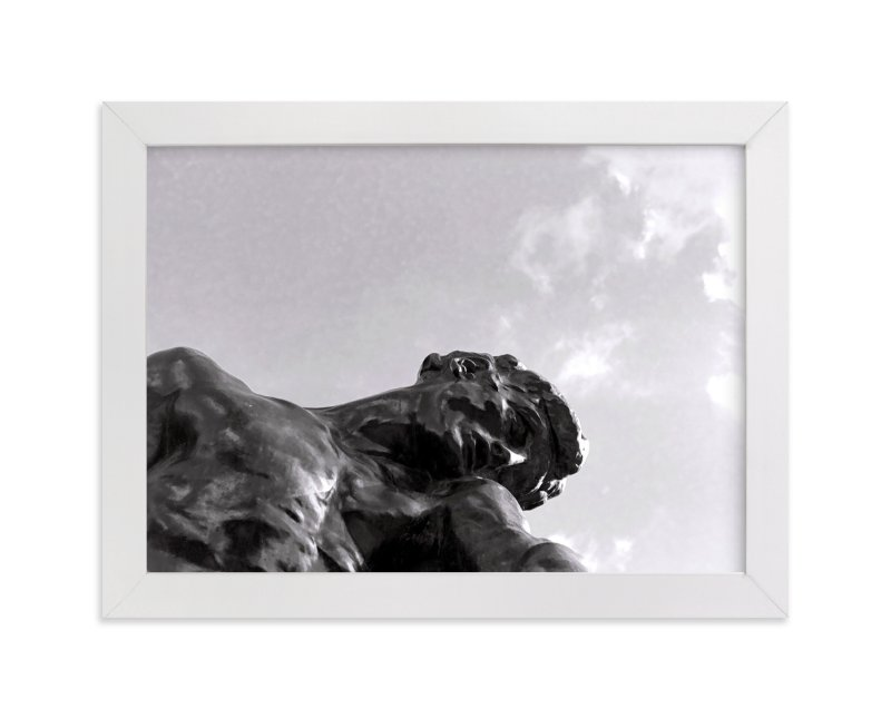 This is a black and white art by Jill Fisher called Rodin's Sky.