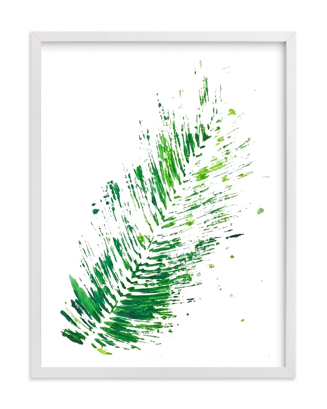 """""""Palm Splash"""" - Art Print by Michelle Jean in beautiful frame options and a variety of sizes."""
