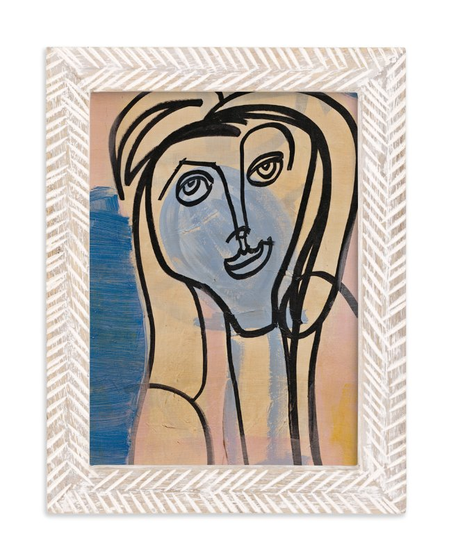 """Picasso Girls Series 2"" - Art Print by Angela Simeone in beautiful frame options and a variety of sizes."
