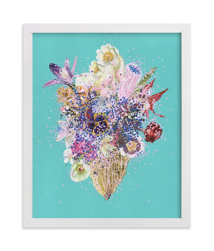 """Interstellar Coral Reef"" - Art Print by Jenny Brown in beautiful frame options and a variety of sizes."