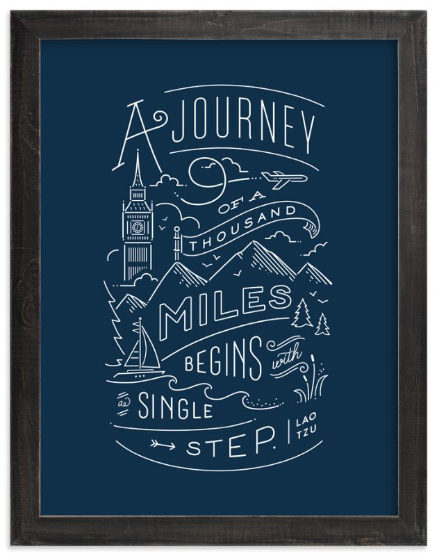 """""""Journey of a thousand miles"""" - Art Print by Jennifer Wick in beautiful frame options and a variety of sizes."""