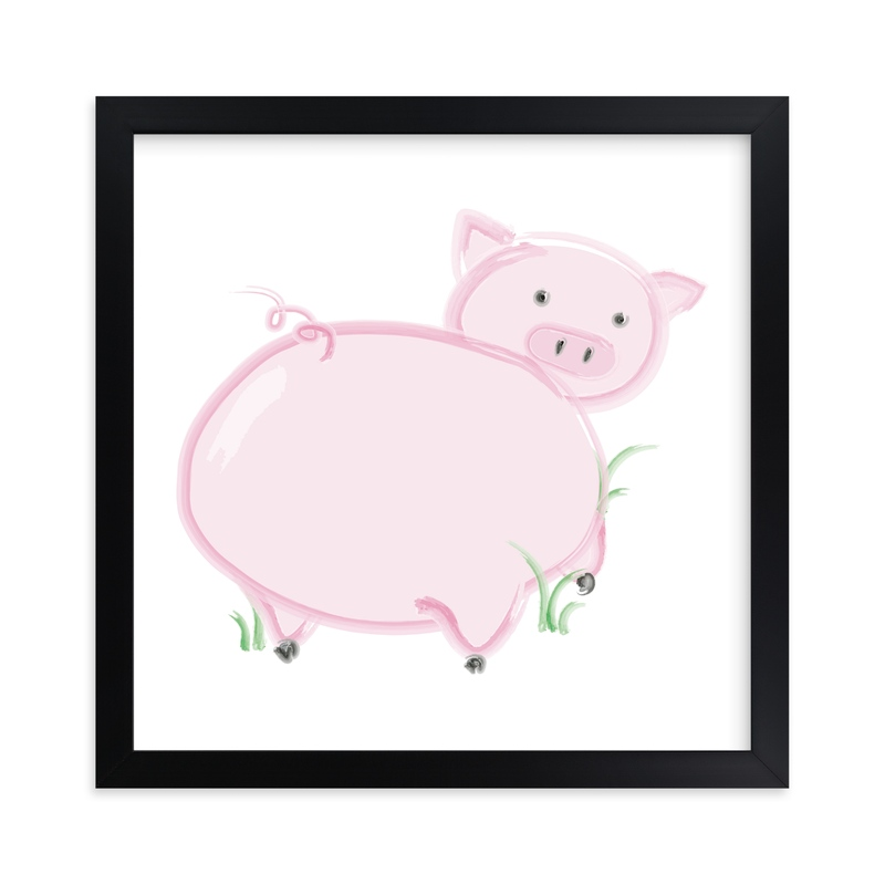 """Piggyback"" - Art Print by Keith Benedek in beautiful frame options and a variety of sizes."