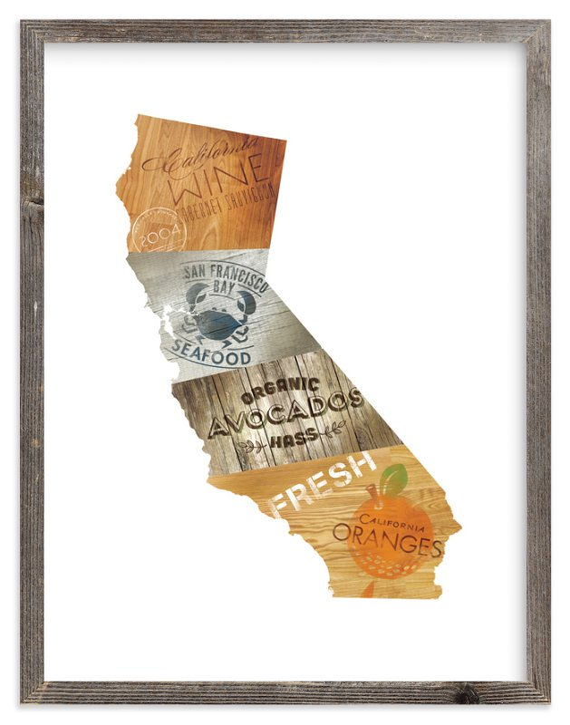 """""""California Flavor"""" - Art Print by Susie Allen in beautiful frame options and a variety of sizes."""