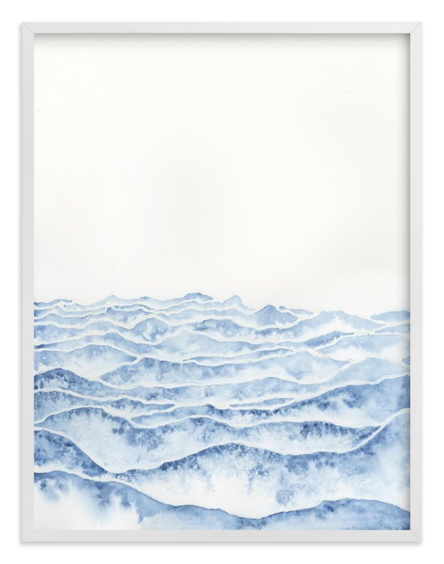 """Vast"" - Art Print by Emily Magone in beautiful frame options and a variety of sizes."
