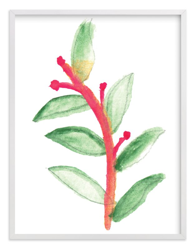 """""""hand painted leaves"""" - Art Print by aticnomar in beautiful frame options and a variety of sizes."""