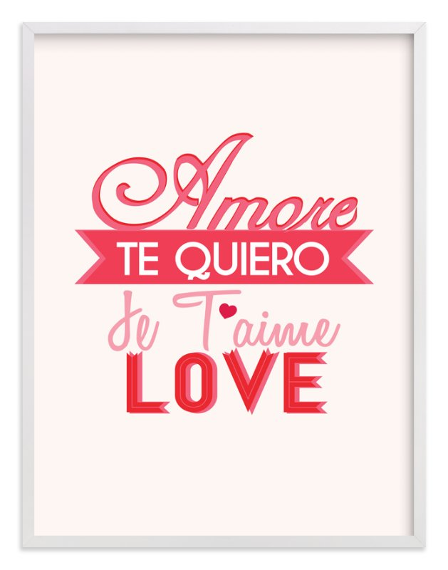 """""""Love Languages"""" - Art Print by Red Impressionz in beautiful frame options and a variety of sizes."""