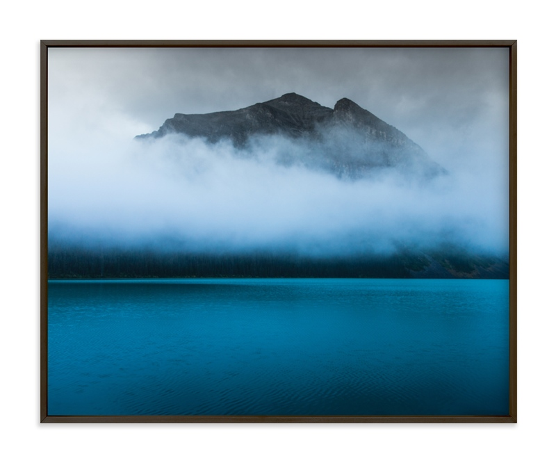 """""""the indigo lagoon"""" - Art Print by van tsao in beautiful frame options and a variety of sizes."""