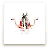 Family Crest: Flamingos by Betty Hatchett