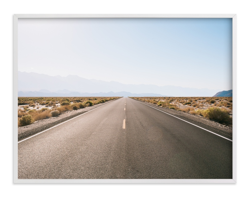 """""""Desert Highway"""" - Art Print by Anna Western in beautiful frame options and a variety of sizes."""