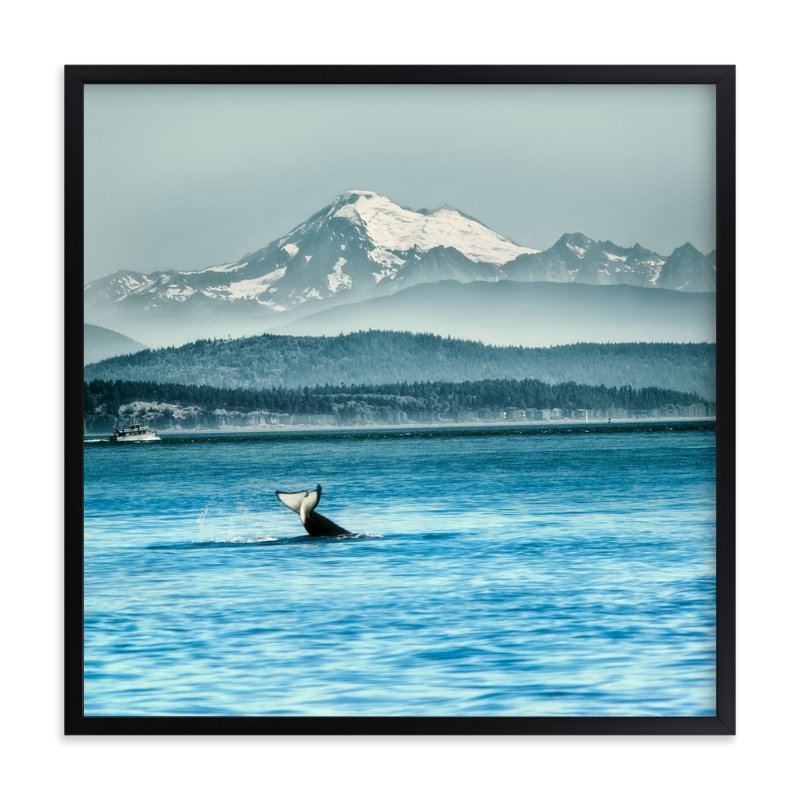 """""""Whale of a Tale"""" - Art Print by Michelee Scott in beautiful frame options and a variety of sizes."""