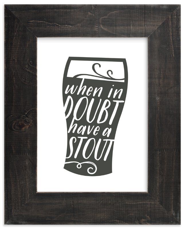 """""""Have a Stout"""" - Art Print by Jessie Steury in beautiful frame options and a variety of sizes."""