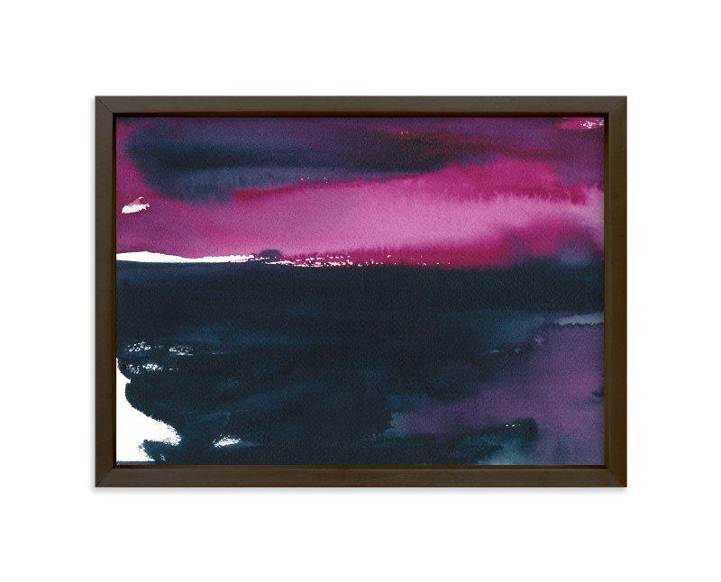 """""""Pink Sky Over the Water"""" - Art Print by Renee Anne Bouffard-McManus in beautiful frame options and a variety of sizes."""