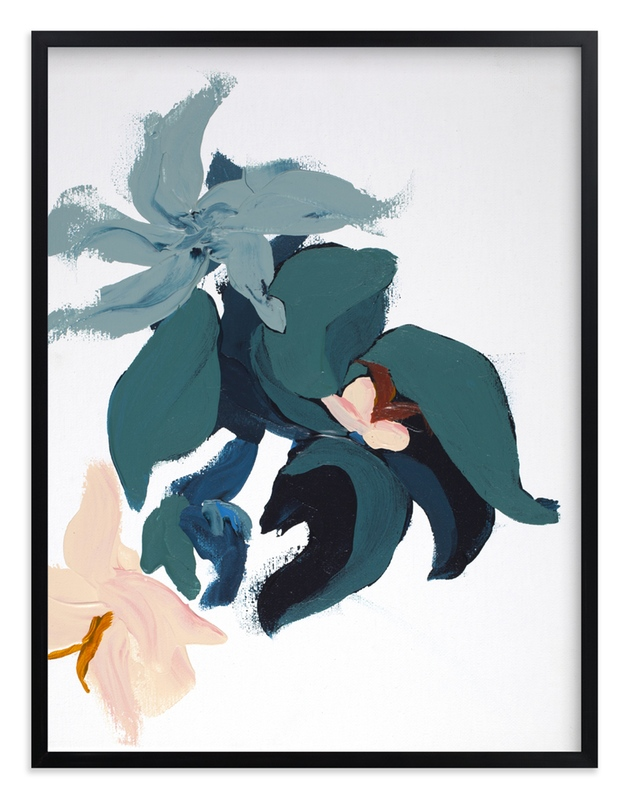 """""""Modern Abstract Floral art print"""" - Art Print by Caryn Owen in beautiful frame options and a variety of sizes."""