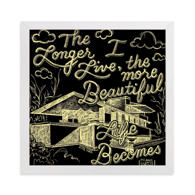 """""""Beauty & Frank Lloyd Wright"""" - Art Print by Amanda Paulson in beautiful frame options and a variety of sizes."""