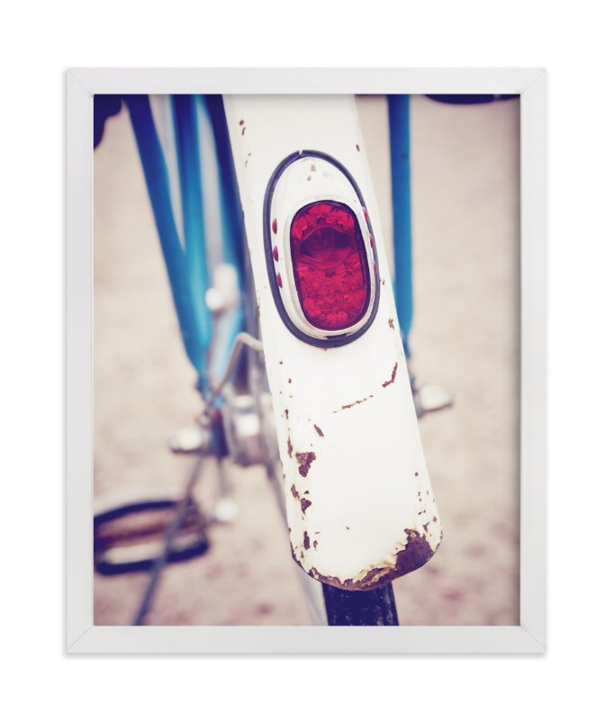 """Vintage Bike Back"" - Art Print by LemonBirch Design in beautiful frame options and a variety of sizes."