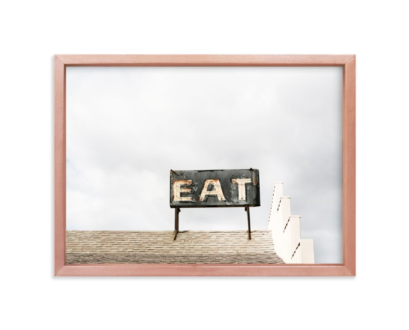 """""""roadside eat"""" - Art Print by Robin Ott in beautiful frame options and a variety of sizes."""