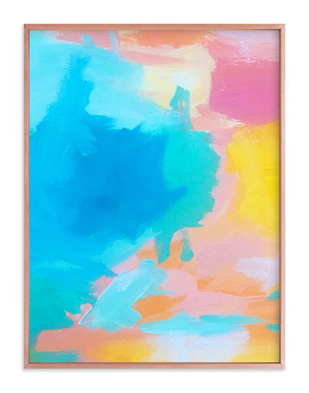 """""""Malibu Vibe"""" - Art Print by Jenny Partrite in beautiful frame options and a variety of sizes."""