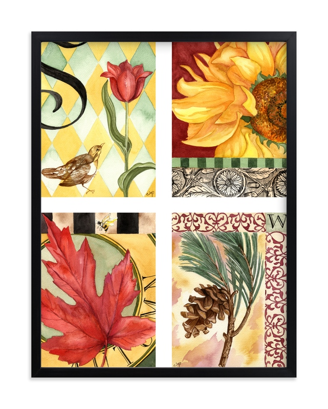 """The Four Seasons I"" - Art Print by Stephanie Toral in beautiful frame options and a variety of sizes."