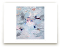 Light Blue, Gray, and Pink Abstract Art