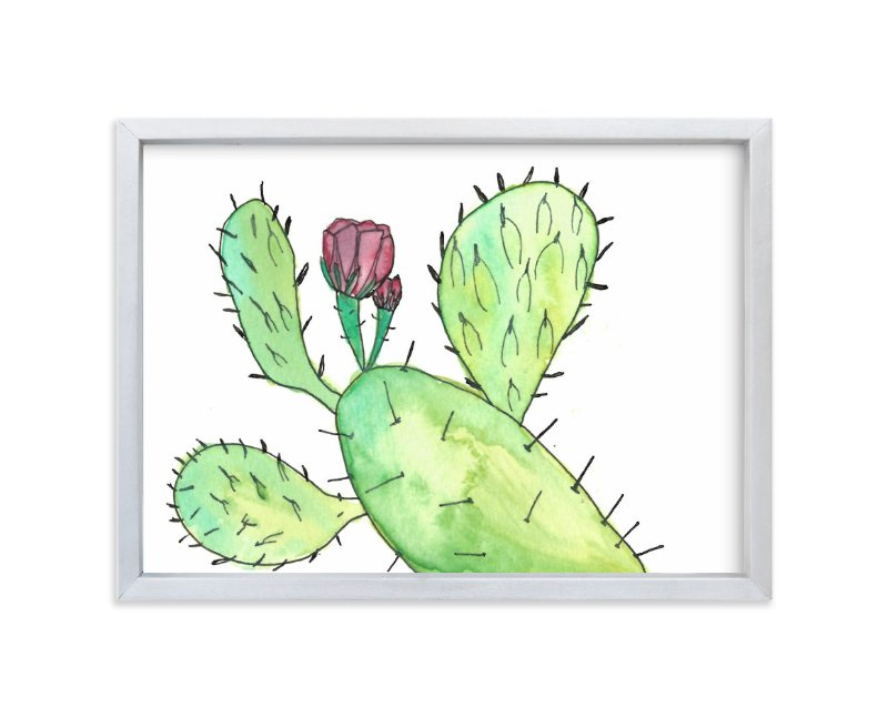 """Prickly Pear Plant"" - Art Print by TweetSweet in beautiful frame options and a variety of sizes."