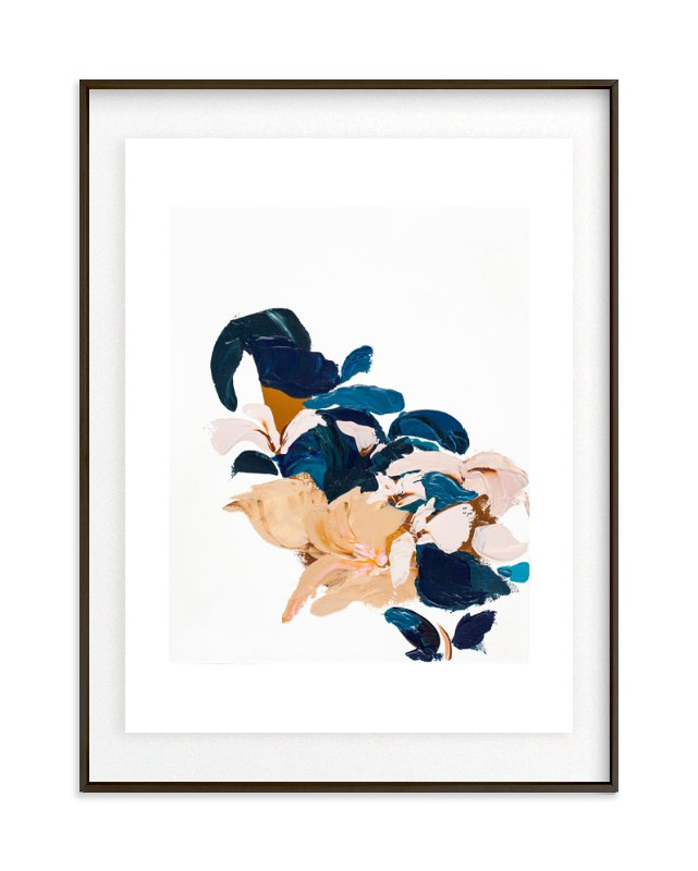 Abstract Botanical Marketplace Art Print