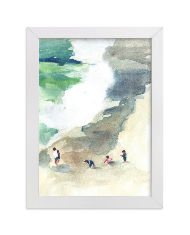 """""""Sand Castles"""" - Art Print by Jenny Partrite in beautiful frame options and a variety of sizes."""