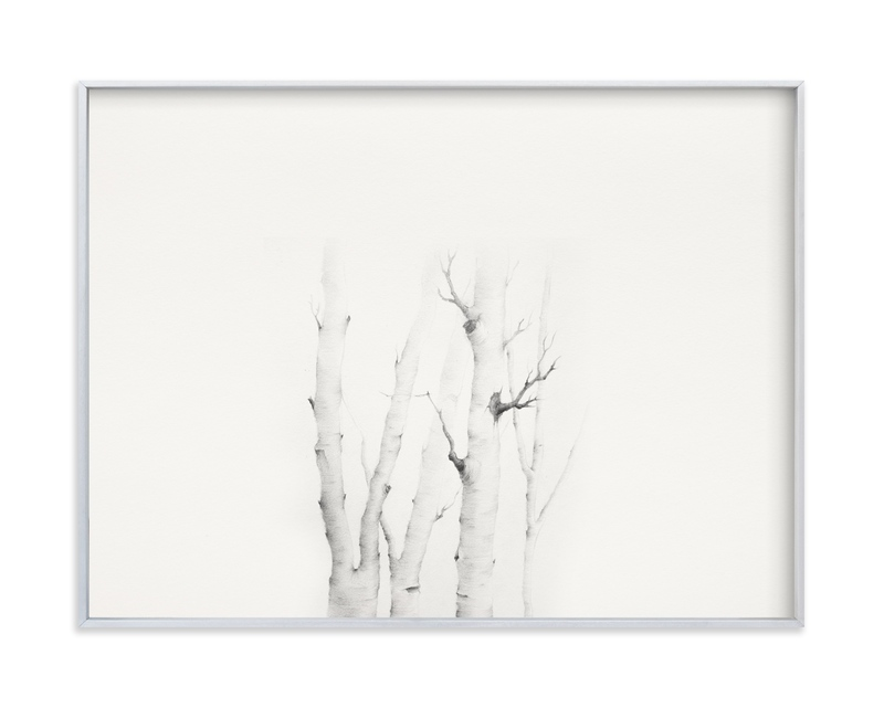 """""""Birch in Chappaquiddick"""" - Art Print by jinseikou in beautiful frame options and a variety of sizes."""