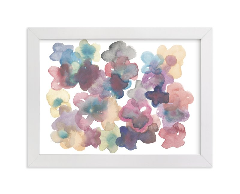 """Silk Flowers"" - Art Print by Kim Johnson in beautiful frame options and a variety of sizes."