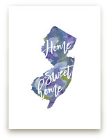 New Jersey (Violet) Wall Art Prints