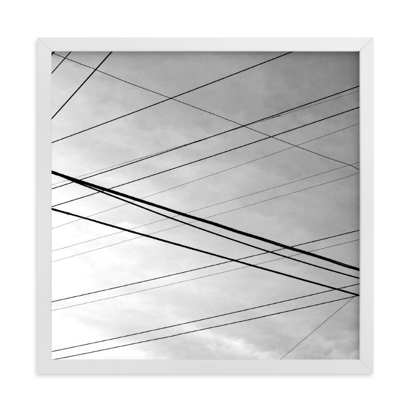 """Skywires 20"" - Art Print by Sonia L. Johansen in beautiful frame options and a variety of sizes."