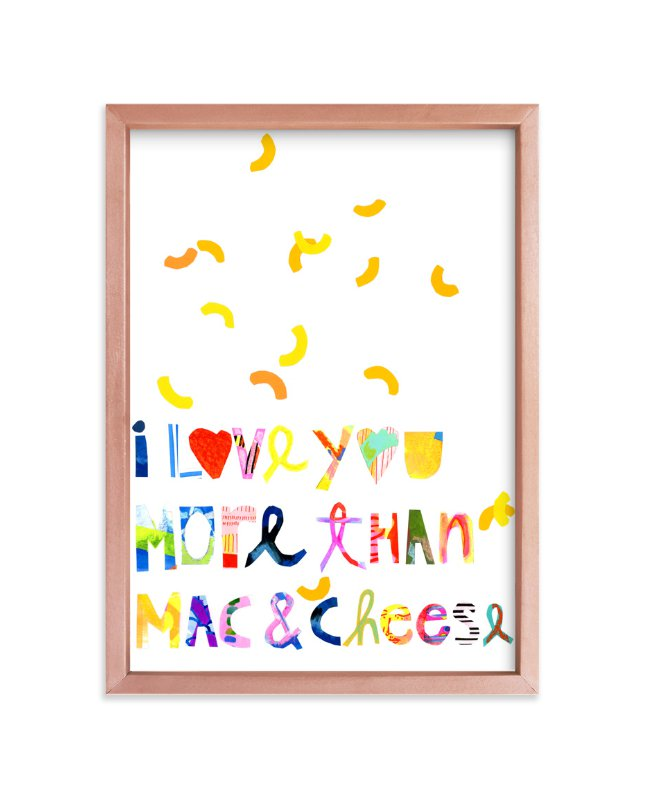"""""""I love mac&cheese"""" - Art Print by Suzanne Blanck in beautiful frame options and a variety of sizes."""