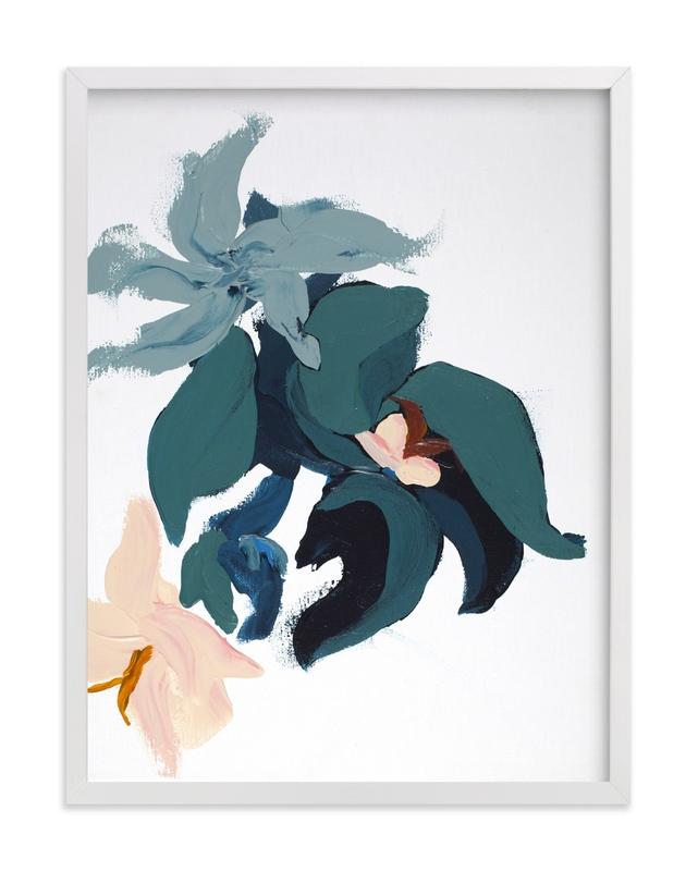 Modern Abstract Floral art print Marketplace Art Print