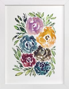 hand painted flowers  Art Print