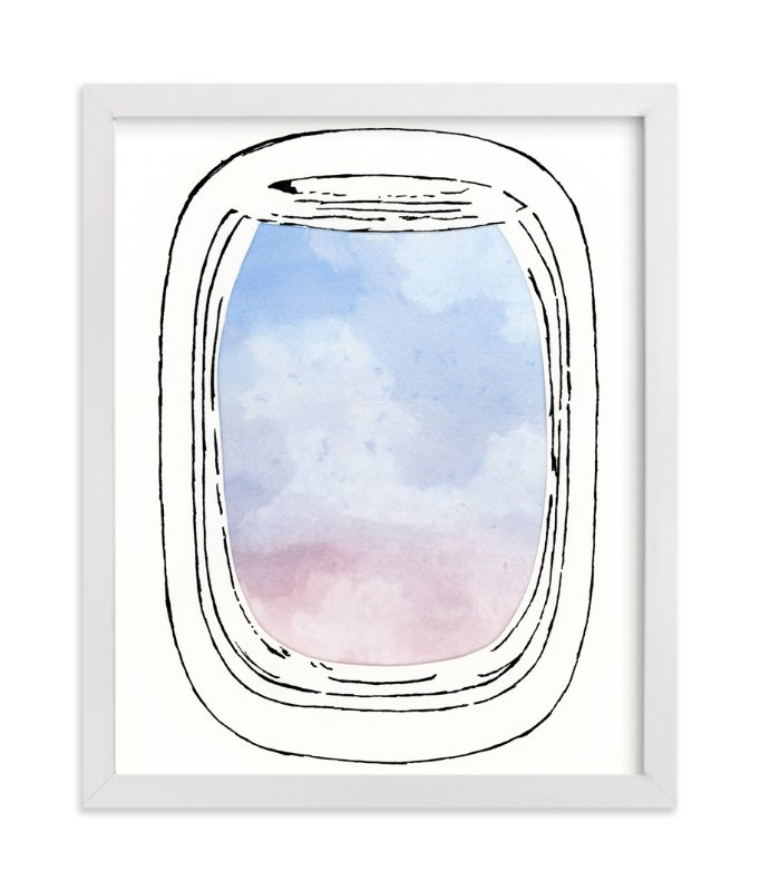 """""""Jet-Setter"""" - Art Print by Michelle Waldie in beautiful frame options and a variety of sizes."""