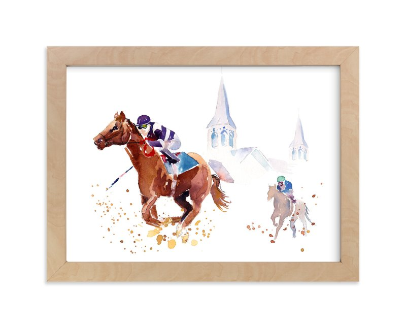 """Derby Day"" - Art Print by Haley Mistler in beautiful frame options and a variety of sizes."
