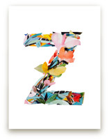 Collage letter Z by Kiana Mosley