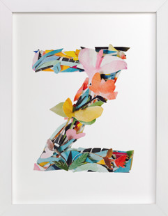 Collage letter Z  Art Print