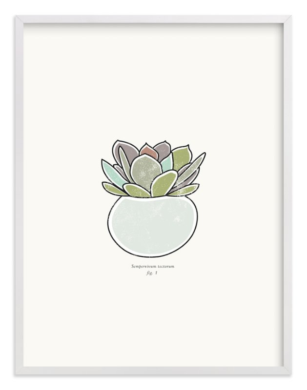 """Succulent figure 1"" - Art Print by Stacey Meacham in beautiful frame options and a variety of sizes."