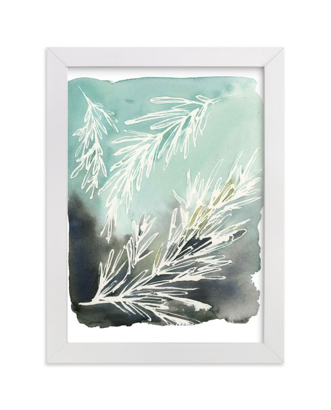 """""""Sprig"""" - Art Print by Kelly Ventura in beautiful frame options and a variety of sizes."""