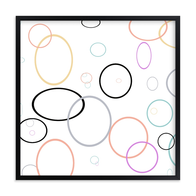 """""""Circle Circus"""" - Art Print by Michelee Scott in beautiful frame options and a variety of sizes."""